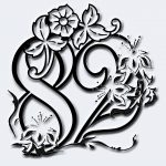 Flower Engraved Mirror