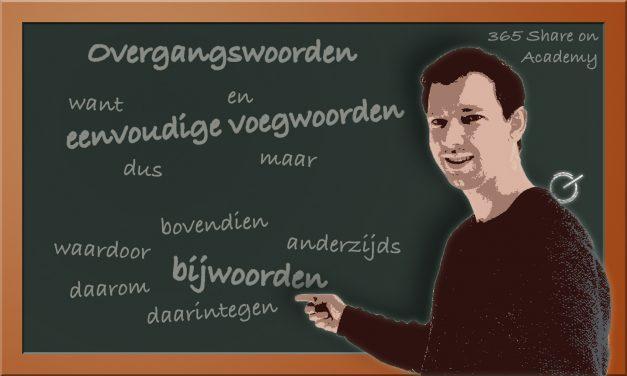 Overganswoorden, ofwel voegwoordelijke bijwoorden