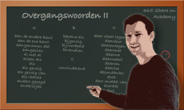 Overgangswoorden II