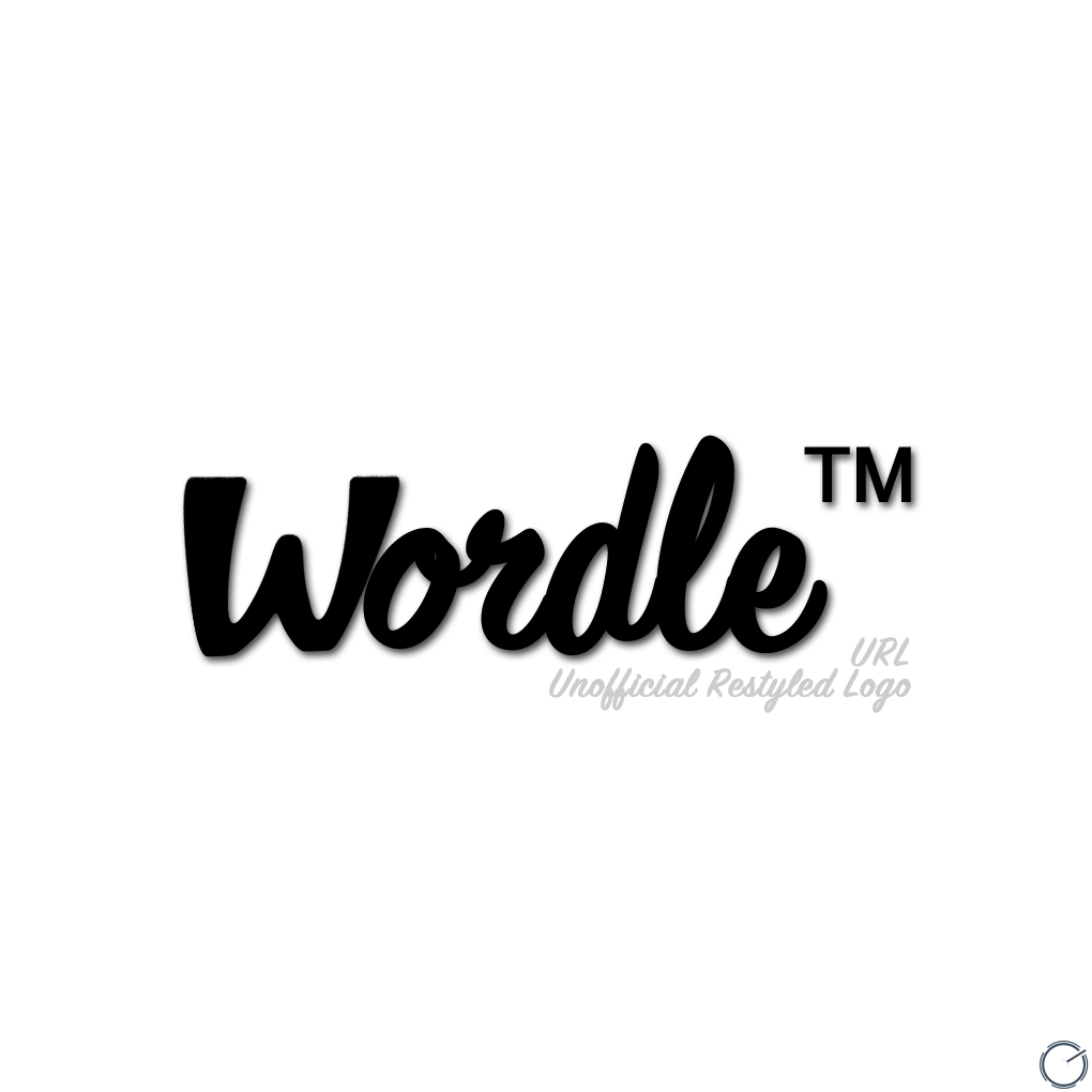 Unofficial Restyled Wordle Logo