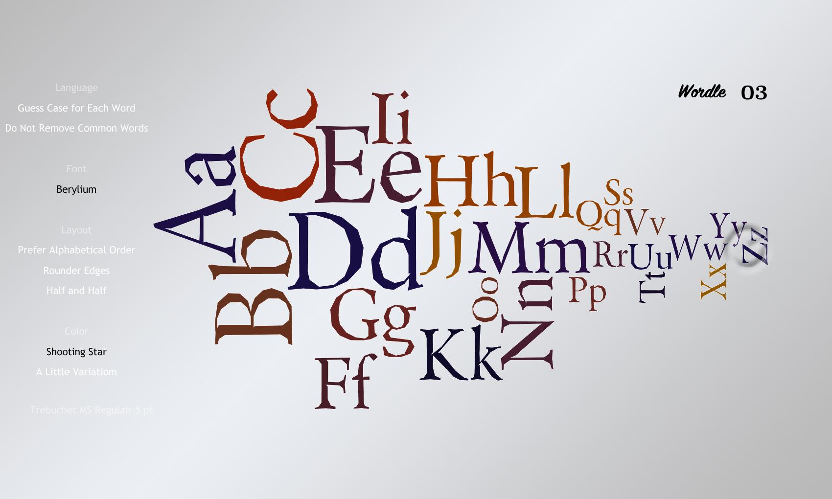 Wordle 03 Berylium