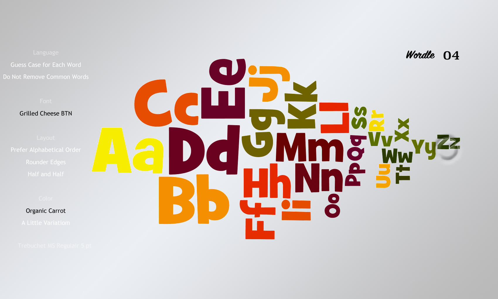 Wordle 04 Grilled Cheese BTN