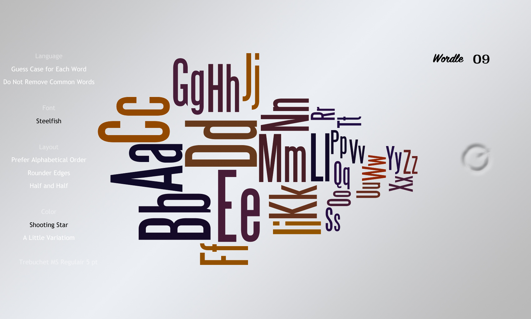 Wordle09 Steelfish