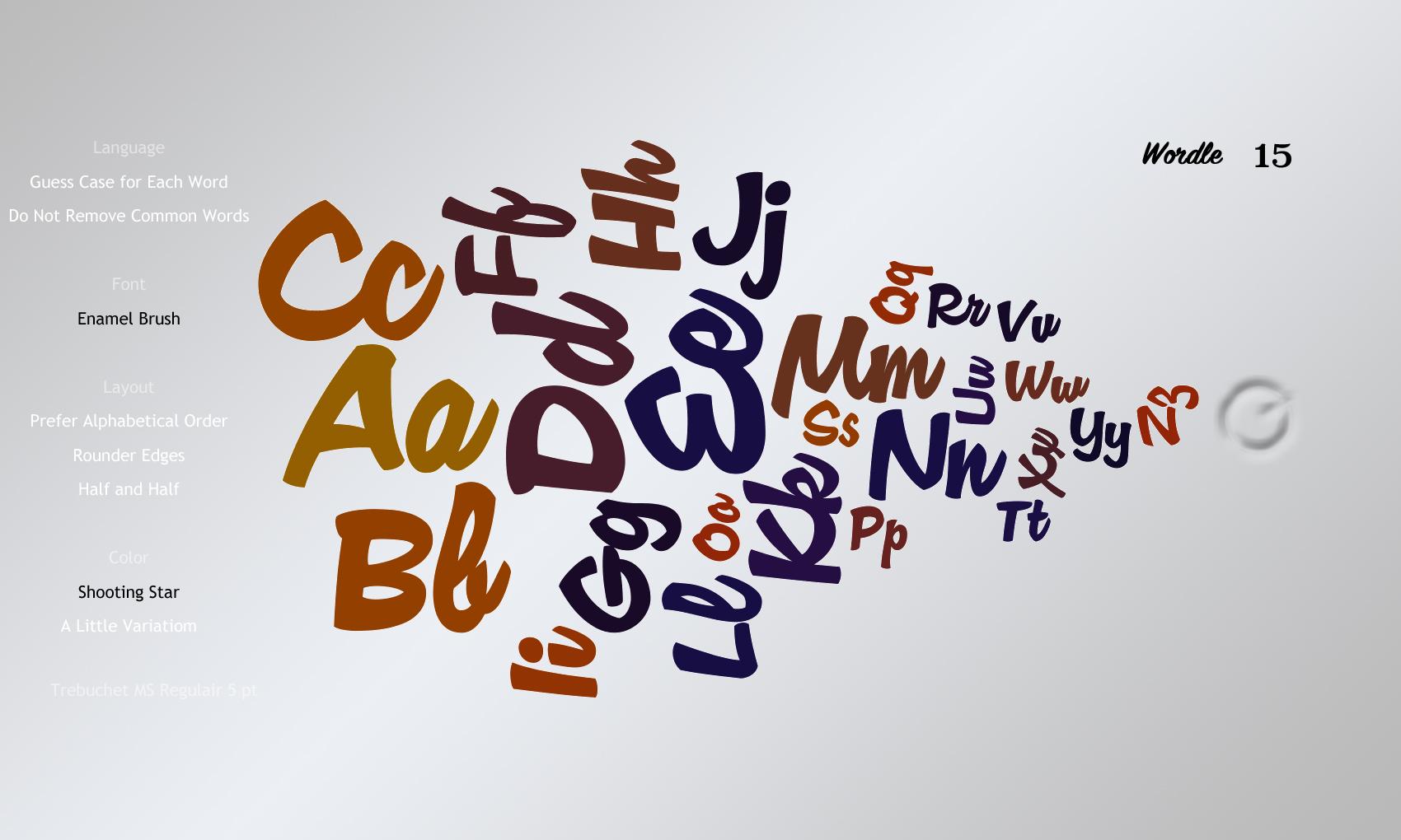 Wordle 15 Enamel Brush