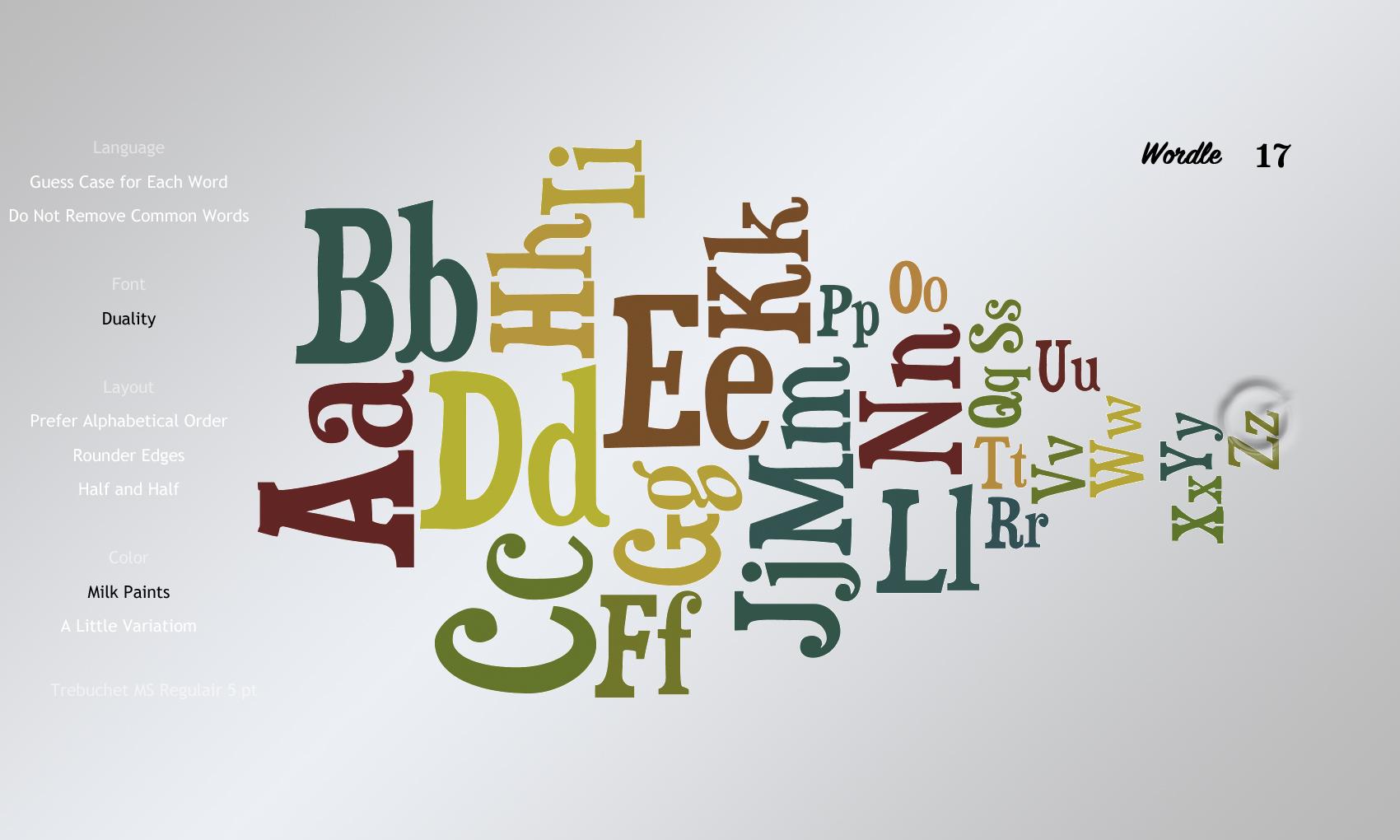 Wordle17 Duality