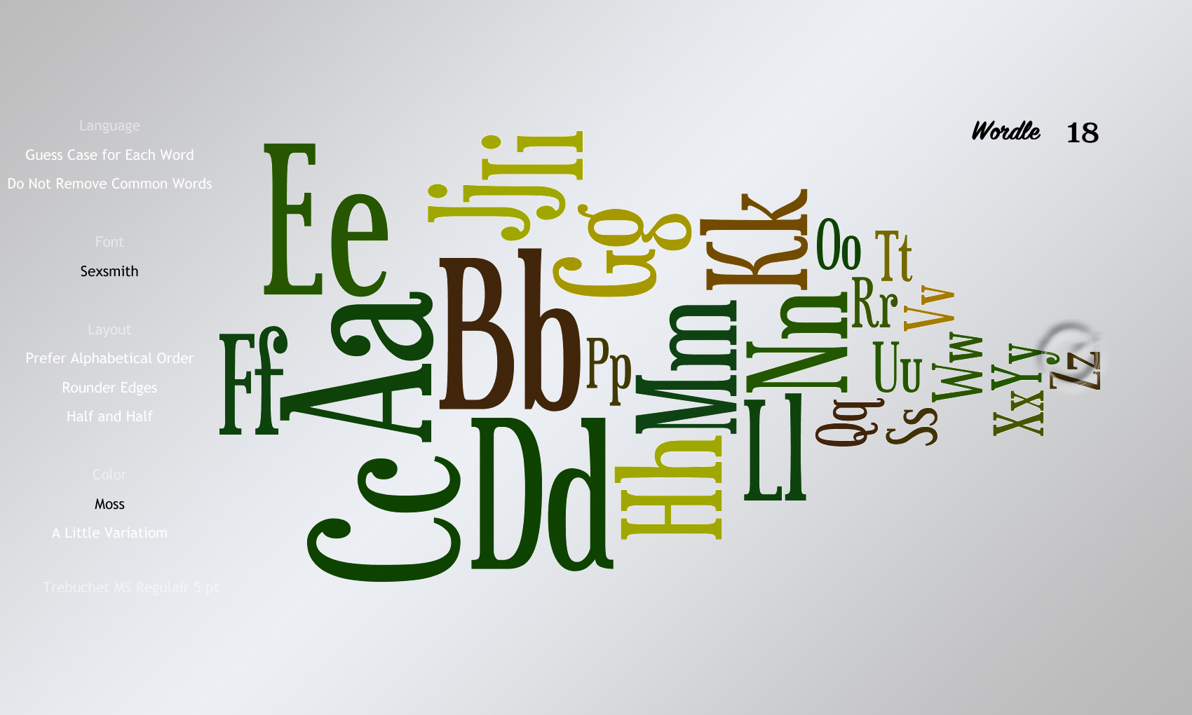 Wordle 18 Sexsmith
