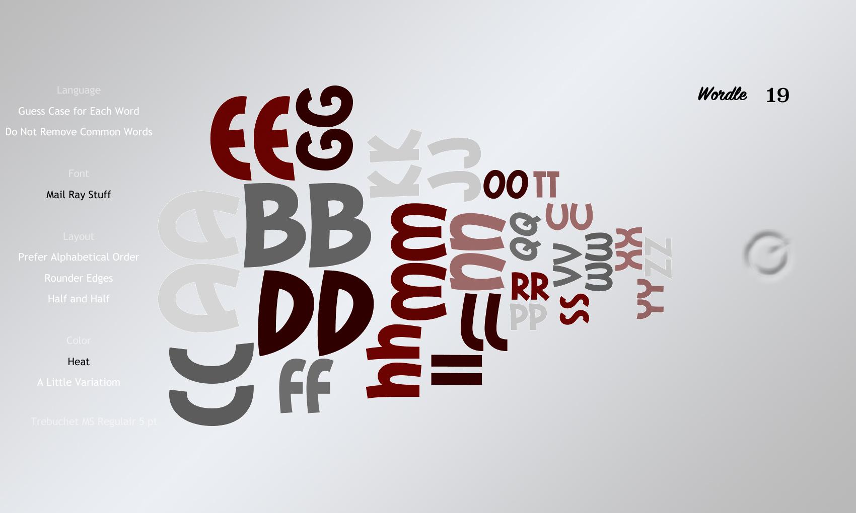 Wordle 19 Mail Ray Stuff
