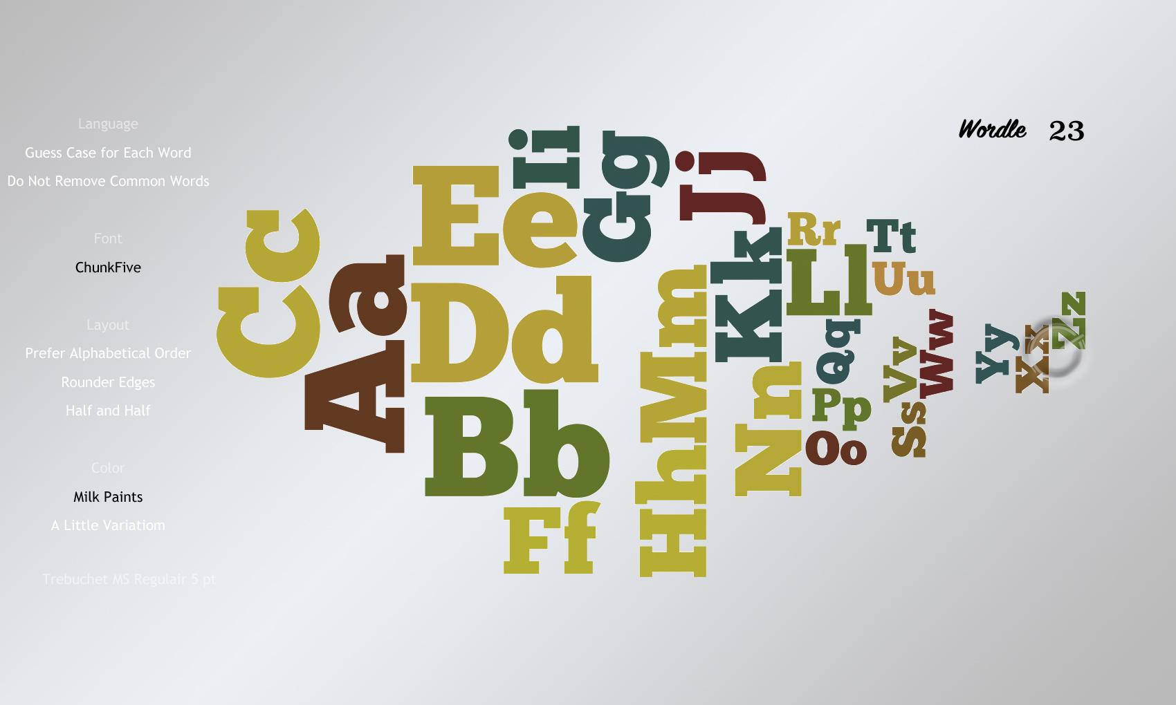 Wordle23 ChunkFive
