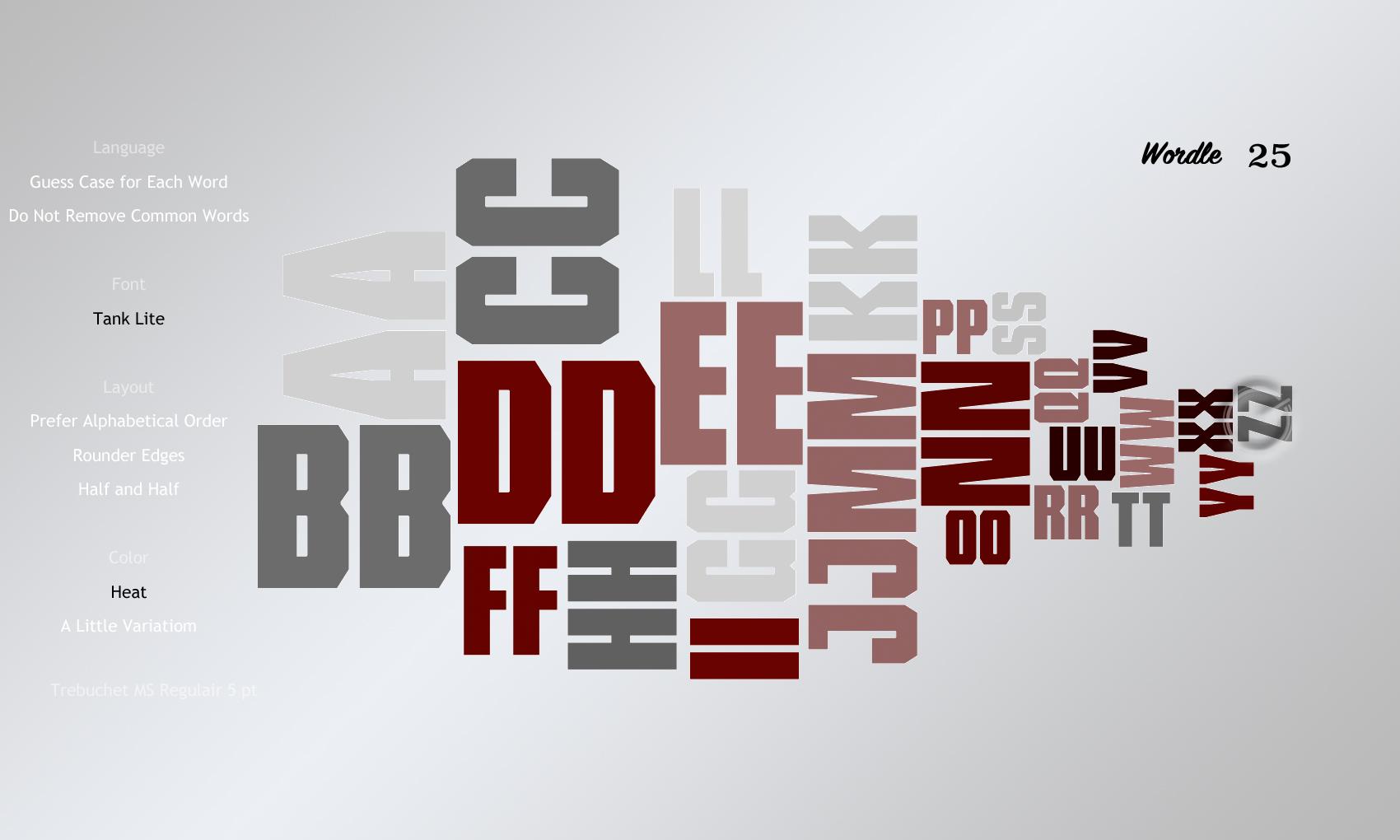 Wordle 25 Tank Lite