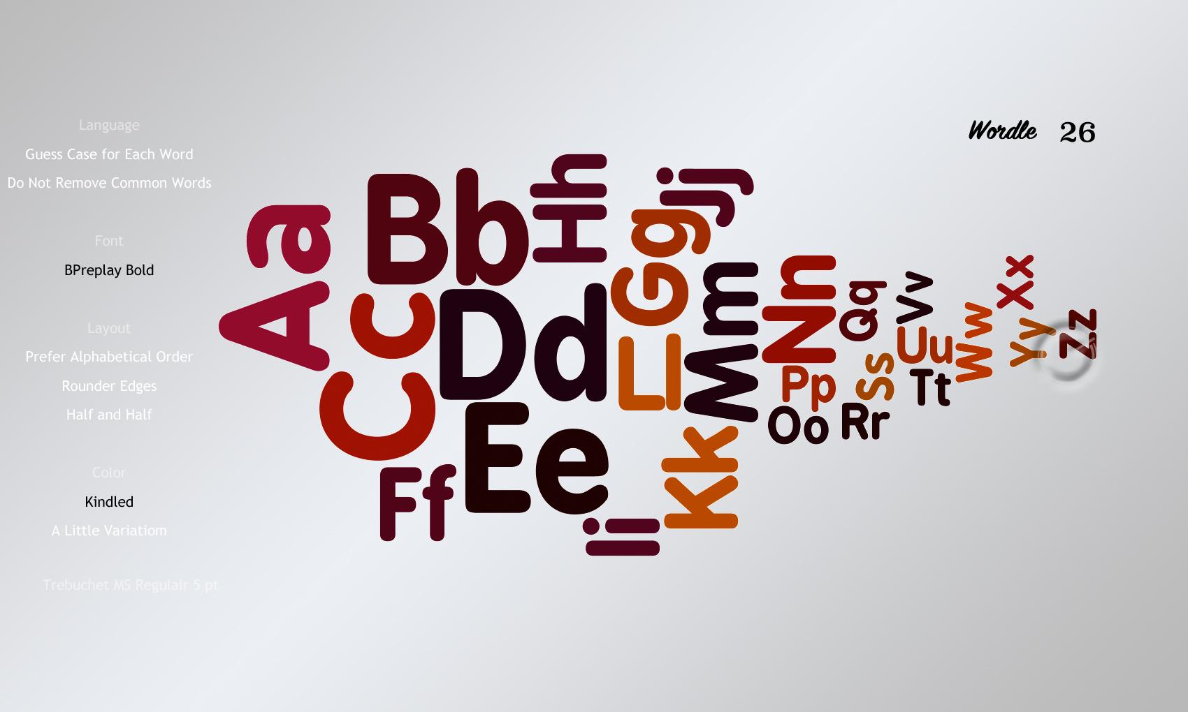 Wordle 26 BPreplay Bold