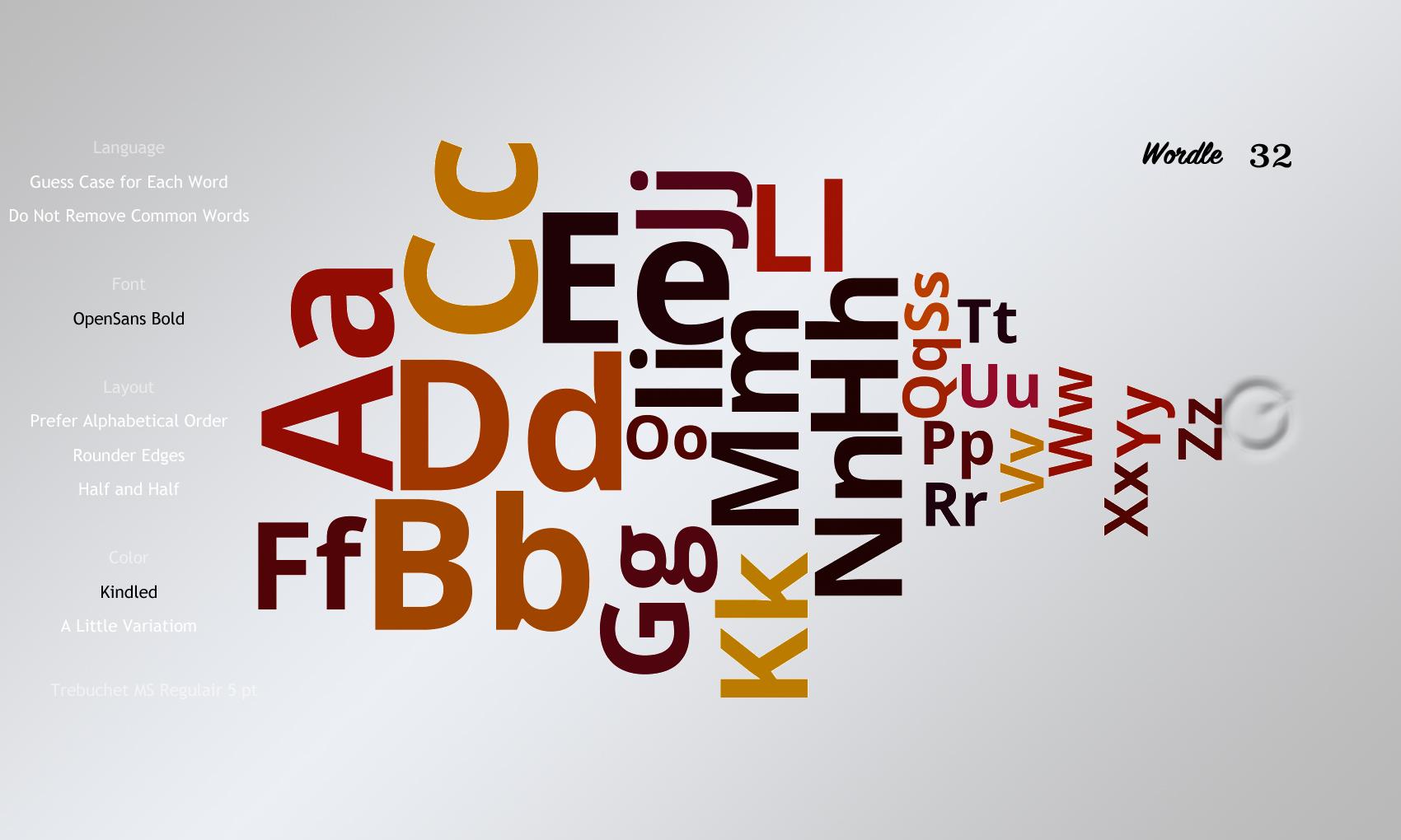 Wordle 32 OpenSans Bold